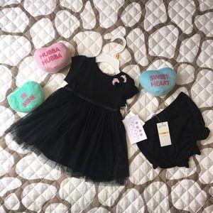 Other - NWT Black TuTu Dress 2-piece set Size 12 months